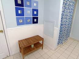 bathroom ideas with beadboard weekend projects install wainscoting hgtv