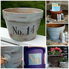 age flower pots with paint and wax u2014 crafthubs