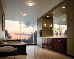 Modern Bathroom Large Bathroom Interior In Luxury Home With Two Sinks Tile Floors