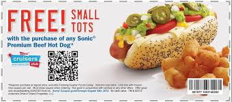 food coupons sonic coupons fast food printable coupons online