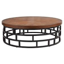 amazing wicker ottoman coffee table come with round wooden table