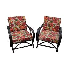 home decorators chairs ficks reed rattan bamboo lounge chairs pair chairish