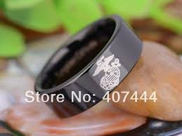 marine wedding rings free shipping ygk jewelry sales 8mm black pipe army