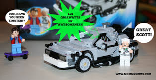 future flying cars it u0027s about time the lego back to the future delorean arrived