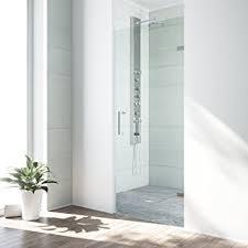 vigo soho 24 to 24 5 in adjustable frameless shower door with