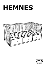 hemnes daybed frame with 3 drawers white ikea united states