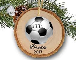 soccer ornaments to personalize soccer ornament etsy
