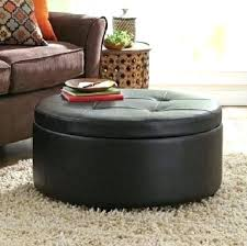 round leather coffee table round black leather ottoman venkatweetz me