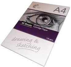 quality 40 sheet a4 drawing and sketching cartridge paper plain