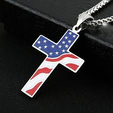 cross necklace images American flag cross necklace freshchristian jpg