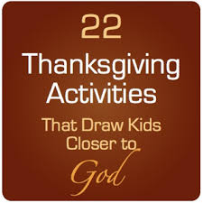 thanksgiving sunday school ideas that bring closer to god