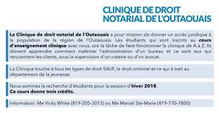 bureau notarial enseignement clinique faculté de droit section de droit civil
