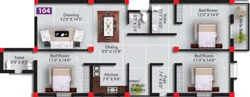 1775 sq ft 3 bhk floor plan image satyabadi residency available