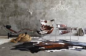 Cowhide Chairs And Ottomans Wassily Chair Design Within Reach
