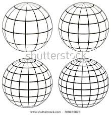 globe grid sphere pattern globe angering stock vector 533640865
