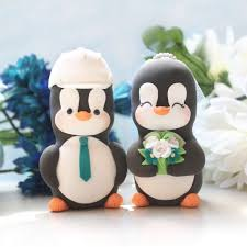 construction cake toppers custom penguin bird wedding cake toppers with construction