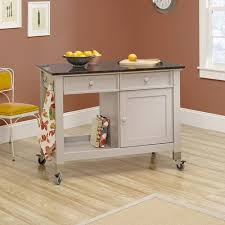 mobile kitchen islands sauder original cottage mobile kitchen island cobblestone