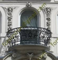 luxury curved wrought iron balcony railing design view exterior