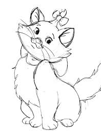 draw marie aristocats coloring pages bulk color