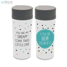 quote kids modern minimalist motivational typography bpa free wide mouth