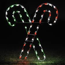 Candy Cane Outdoor Decorations Shop Holiday Lighting Specialists 5 Ft Crossed Candy Canes Outdoor