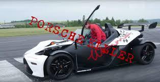 Porsche Boxster Spyder - tuned ktm x bow gt humiliates porsche boxster spyder in german