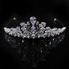 diamond studded 3a zircon diamond studded crown headband high quality
