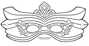 mask template 17 free mardi gras mask templates for and adults
