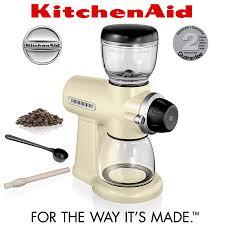 Kitchenaid Burr Coffee Grinder Review Kitchenaid Artisan Burr Grinder Almond Cream Cookfunky