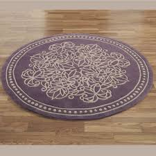 bathroom ideas purple cotton round bathroom rugs with floral
