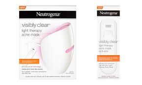 neutrogena light mask activator neutrogena light therapy acne mask groupon goods