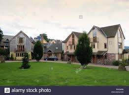 eco houses at the wintles in bishops castle shropshire england uk