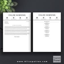 Professional Cover Page Template by Professional Resume Template 1 2 3 Page Cover Letter