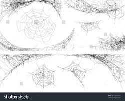 collection cobweb isolated on white transparent stock vector