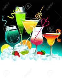 set of drinks royalty free cliparts vectors and stock