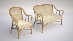 Furniture And Sofa 3d Vintage Wicker Chair And Sofa Cgtrader