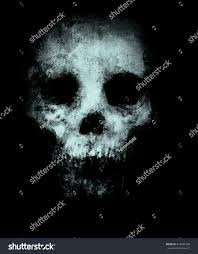 scary halloween t shirts skull isolated on black background design stock illustration