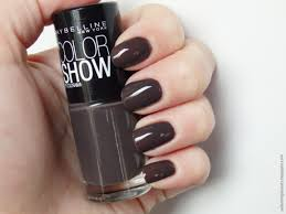 review of maybelline color show nail polish in 549 midnight taupe