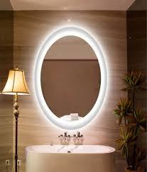 illuminated oval bathroom mirror homelyness walkins pinterest
