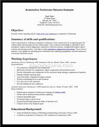 Resume Samples Technician by Resume Template Auto Technician Resume Sample Technician Resume