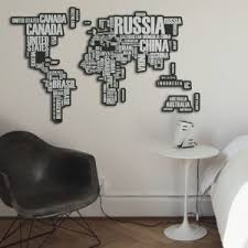 World Map Decor XL wall decor 60 5cm x 30 3cm DCOD Vinyl Depot