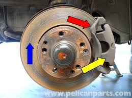 mercedes benz 190e front brake pad replacement w201 1987 1993
