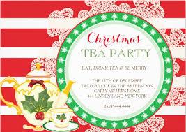 christmas tea party 18 tea party invitations printable psd ai vector eps design