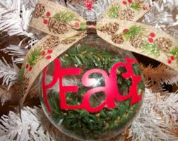 peace ornament etsy