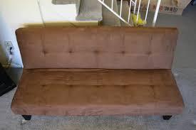 brown microfiber sofa bed chocolate brown microfiber with adjustable back klik klak sofa futon