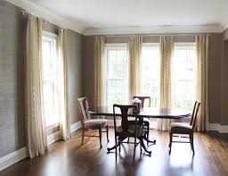 dining room sheer drapes in weitzner in creme