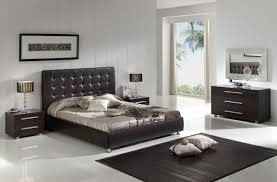 Black Modern Bed Frame Bedroom Expansive Black Modern Bedroom Furniture Brick Pillows