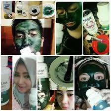 Masker Spirulina Per Butir masker spirulina nutrisi wajah pembersih wajah penghilang komedo