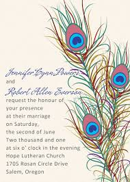 Peacock Wedding Programs Cheap Vintage Peacock Feather Wedding Invitations Ewi319 As Low As