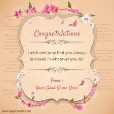 congratulations card congratulations quotes sayings with your name create wishes